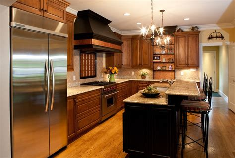 range cover kitchen transitional with brookhaven copper range hoods with wood island glass front
