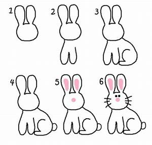 How to draw cute rabbits