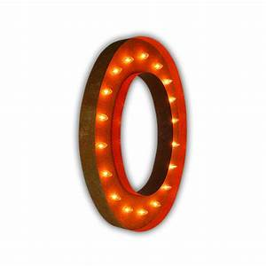 rusty 36 inch letter o marquee light by vintage marquee lights With 36 inch marquee letters