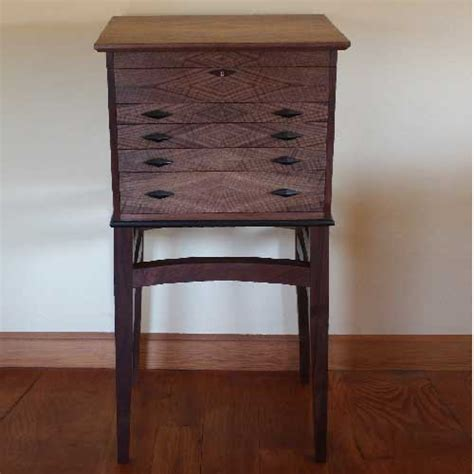 Silverware Cabinet by Custom Made Walnut Floorstanding Silverware Chest On A Stand