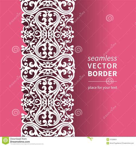 vector victorian ornamental border  flat design style