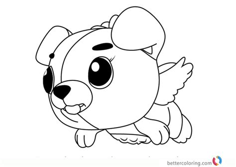 cloud puppit  hatchimals coloring pages  printable coloring pages