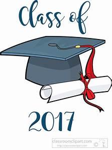 Graduation Clipart- graduate-class-of-2017-cap-diploma ...