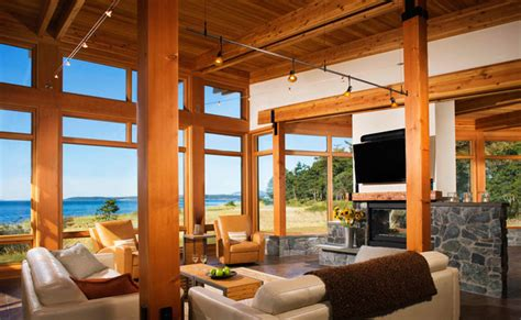contemporary fireplace surround ideas pacific northwest style