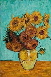 vincent van gogh sunflowers painting - vincent van gogh ...