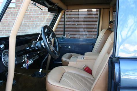 custom suv bronco ford 1966 interior cars