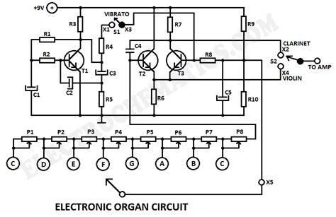 Electronic Organ Circuit Under Repository Circuits