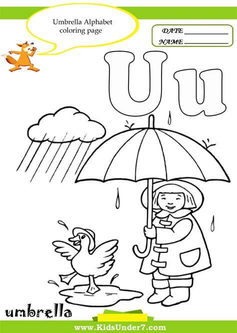 words that begin with u coloring pages