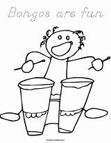 Coloring Pages Kindergarten Bongos Fun Movement Bongo Template Login Favorites Twistynoodle Cursive Noodle sketch template
