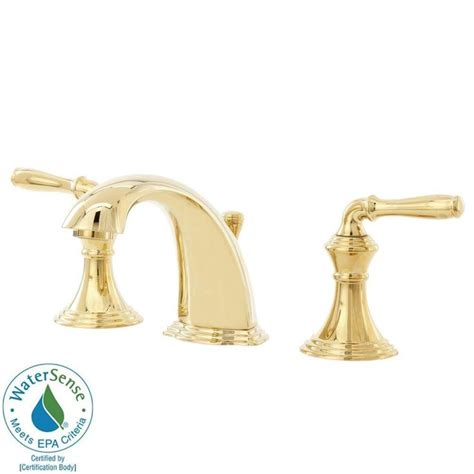 polished brass bathroom faucet kohler kohler devonshire 8 in widespread 2 handle low arc