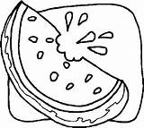 Watermelon Coloring Pages Juicy sketch template