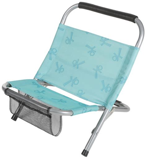 Halfords Low Folding Chair Blue Steel Tubes Camping