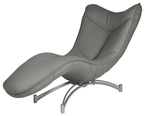 modern chaise in gray contemporary indoor chaise