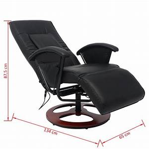 Fauteuil Massage Shiatsu : acheter vidaxl fauteuil de massage shiatsu demi pu noir ~ Premium-room.com Idées de Décoration