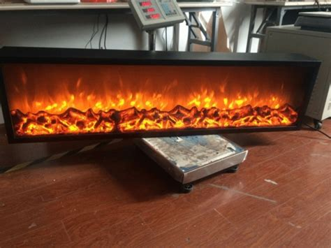 emblazon  wall length linear electric fireplace