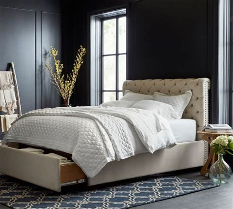tufted headboard footboard chesterfield upholstered tufted footboard storage bed