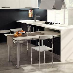 Meuble Cuisine Avec Table Escamotable : tables escamotables cuisine equipements ameublement ~ Melissatoandfro.com Idées de Décoration