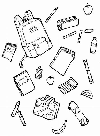 Coloring Supplies Pages Drawing Worksheets Draw Drawings