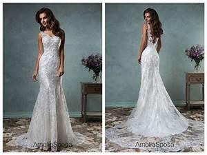 amelia sposa 2016 lace wedding dresses cheap mermaid white With amelia sposa wedding dress cost