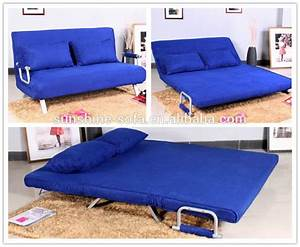 Metal flat pack furniture futon sofa bed with removable for Flat pack sofa bed