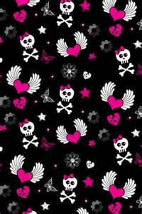 Cute Pink Girly Skull Backgrounds