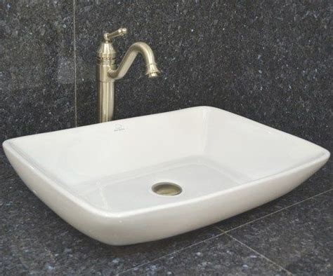 Vessel Sink Porcelain Bear Low Profile Rectangle