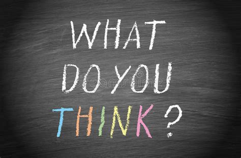 What Do U Do For by What Do You Think Stock Photo Image 40009106
