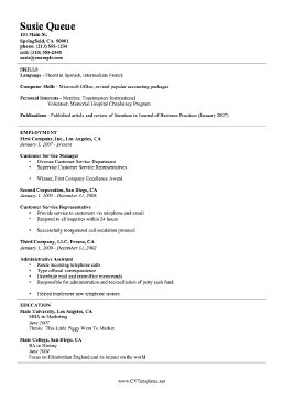 Template For Basic Curriculum Vitae by Basic Cv Template A4