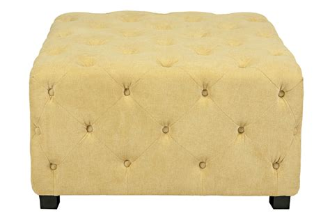 large white tufted ottoman duncan large tufted yellow cube ottoman at gardner white