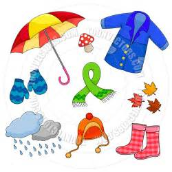 Cartoon Weather Clip Art Fall Clothes
