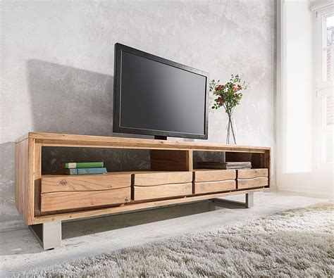 Lowboard Design Möbel by Lowboard Live Edge 190 Cm Akazie Natur 4 Sch 252 Be M 246 Bel