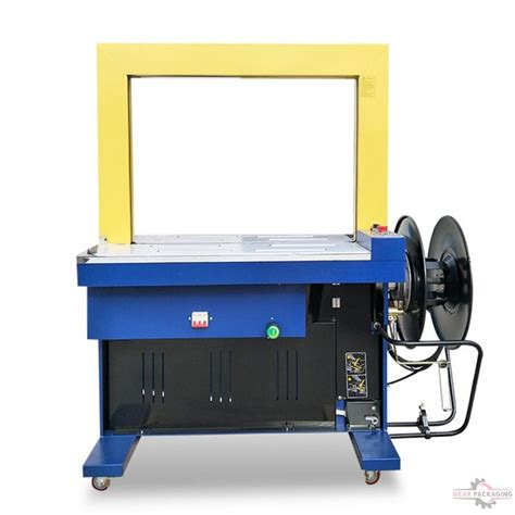 fully electric drive semi automatic pp belt bundle hand banding box paper carton strapping machine