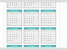 Calendario 20172018 en Excel PlanillaExcelcom
