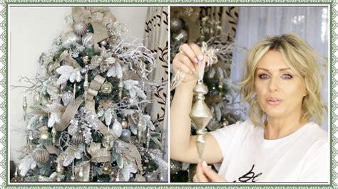 decorate  christmas tree  ribbon winter