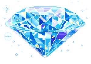 Kawaii Pixel Art Diamond