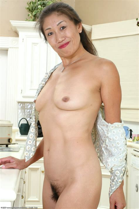 asia porn photo in the kitchen hairy asian mature milf