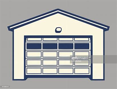Garage Door Vector Opening Royalty Illustrations Clip