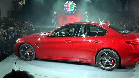 Alfa Romeo Giulia Quadrifoglio North American Reveal