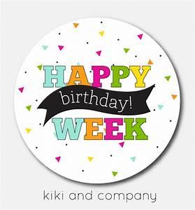 Happy Birthday Labels {free printable} - Kiki & Company