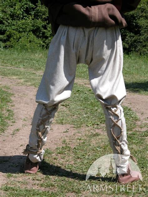 medieval norman natural flax linen pants sca  sale