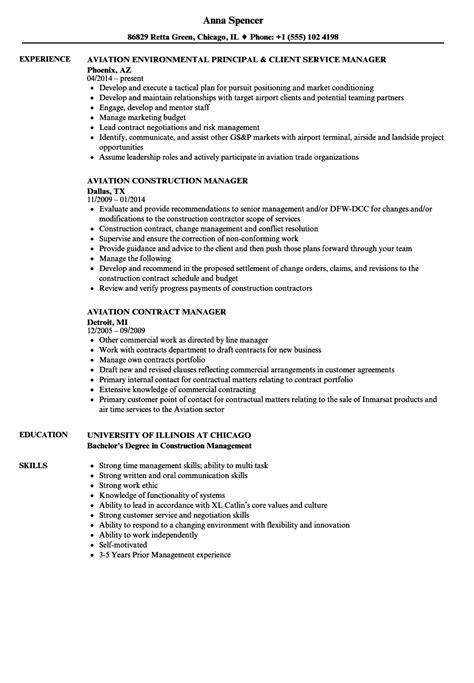 manager aviation resume sles velvet
