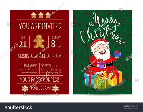 Christmas Party Invitation Cartoon Santa Claus Stock Fire Pit Mortar Metal Cover For Round Ring Fish Cast Iron Cauldron 5 Piece Patio Set Ponto Beach Pits Conversation With Slate Top