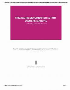 Bestseller  Owners Manual For Frigidaire Dehumidifier