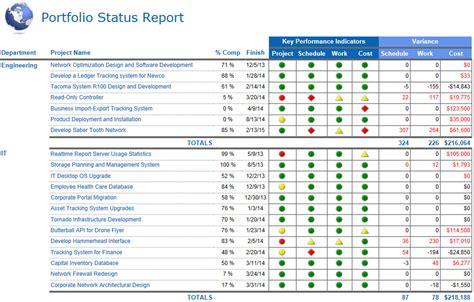 images  project portfolio status template leseriailcom