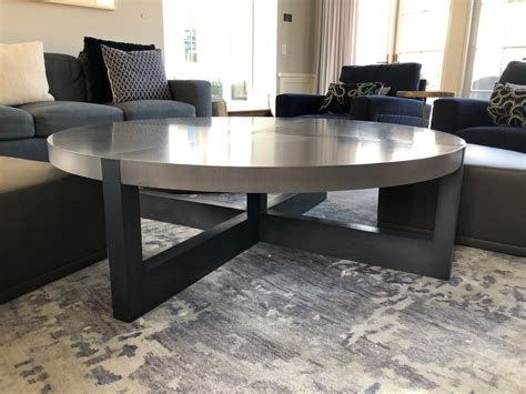 Of which the latter were called 'quartetto tables'. Custom Round Coffee Table with Pull out Leather Ottomans • The Local Vault