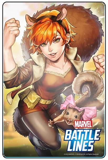 Marvel Lines Battle Comic Con Trailer Squirrel