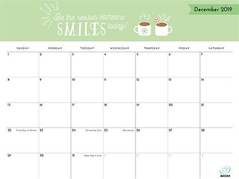 positive thoughts printable  calendar imom