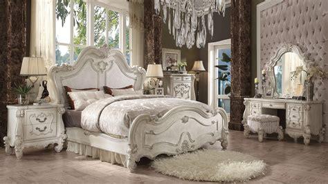 Piece Versailles Traditional Bedroom Set Bone White