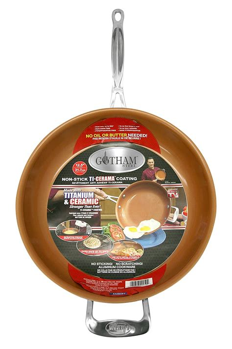 gotham steel  red copper  cookware suits