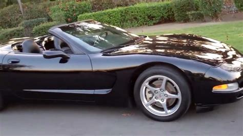 black convertible sold 1998 chevrolet corvette convertible black youtube